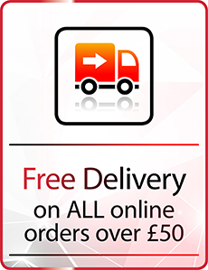 Free Delivery on ALL Online Orders over £50