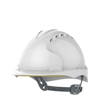 JSP Helmet Safety Evo2 Mid Peak Vented White