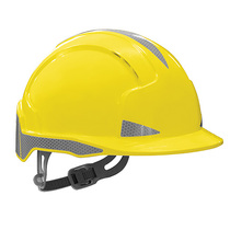 JSP Evolite CR2 Reflective Slip Ratchet Safety Helmet - Yellow