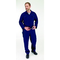 Endurance Polycotton Stud Coveralls Navy
