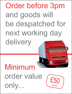 Order before 3pm for next working day delivery!