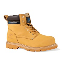 Rock Fall Goodyear Welted Safety Boot with Midsole Brown