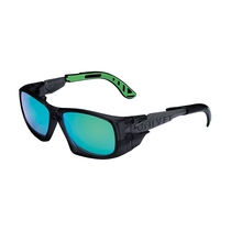 KeepSAFE 5X9 Sport Safety Spectacles K & N Rated - Green Mirror Lens