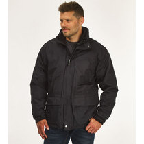 Regatta Benson II Breathable Waterproof 3-In-1 Mens Black Jacket