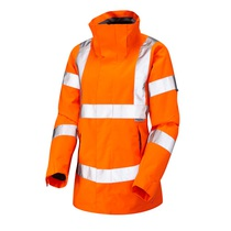 Leo Rosemoor Women's Waterproof and Breathable Jacket - High- Visibility Orange